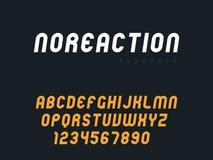 Lettres et nombres majuscules latins d'alphabet de vecteur Police arrondie abstraite illustration stock