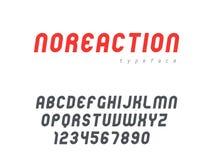 Lettres et nombres majuscules latins d'alphabet de vecteur Police arrondie abstraite illustration de vecteur