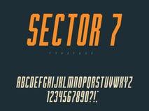 Lettres et nombres majuscules latins d'alphabet Illustration de vecteur illustration libre de droits