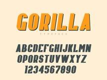 Lettres et nombres majuscules latins d'alphabet Illustration de vecteur illustration stock