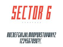 Lettres et nombres majuscules latins d'alphabet Illustration de vecteur illustration de vecteur