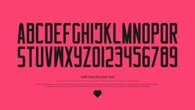 Lettres et nombres minimalistes d'alphabet de style Photo stock