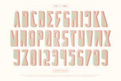 Lettres et nombres urbains d'alphabet de style vecteur, type à la mode de police Image libre de droits