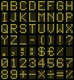 Lettres et numéros de panneau de Digitals Images stock