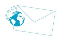 Lettres et terre Illustration Libre de Droits