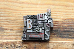 Lettres faites au hasard Image libre de droits
