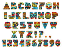 Lettres fleuries illustration stock