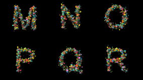 Lettres florales réglées banque de vidéos