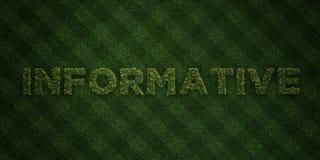 - Lettres fraîches d'herbe avec des fleurs et des pissenlits - 3D INSTRUCTIF a rendu l'image courante gratuite de redevance illustration de vecteur