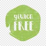 Lettres gratuites de cercle de gluten à l'arrière-plan rond grunge Illustration de logo de vecteur Image libre de droits