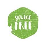 Lettres gratuites de cercle de gluten à l'arrière-plan rond grunge Illustration de logo de vecteur Photos stock