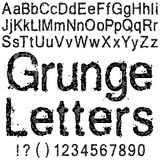 Lettres grunges Image stock