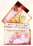 Lettres grunges de 1860s de type - victorian Images stock