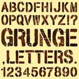 Lettres grunges de pochoir Photo libre de droits