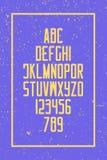 Lettres grunges et nombres d'alphabet de style , rétro type de police Image stock