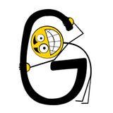 Lettres heureuses d'alphabet - G photographie stock libre de droits