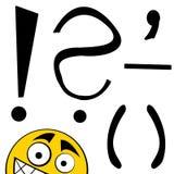 Lettres heureuses d'alphabet - repères illustration de vecteur