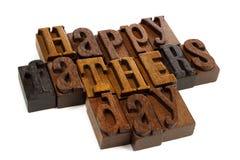Lettres heureuses en bois de vintage de jour de pères Images libres de droits