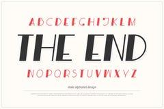 Lettres italiques d'alphabet type conception de police symboles de lettrage obliques illustration stock