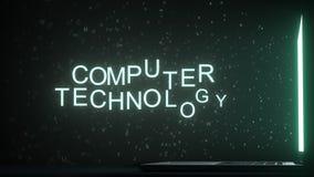 Lettres laissant le texte d'INFORMATIQUE de grille d'ordinateur, rendu 3D photos libres de droits