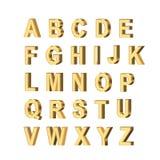 Lettres métalliques Photo stock