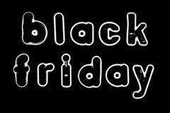 Lettres magnétiques d'alphabet - Black Friday Illustration Stock