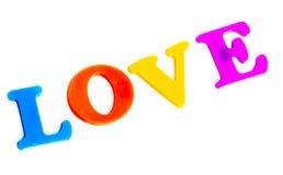 Lettres magnétiques d'amour de Word Photos stock