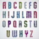 Lettres majuscules frottées colorées grunges, police décorative Illustration Libre de Droits