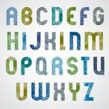 Lettres majuscules frottées colorées grunges, police décorative sur le wh Illustration de Vecteur
