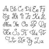 Lettres manuscrites élégantes illustration de vecteur