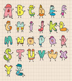 Lettres mignonnes de dessin animé Image libre de droits