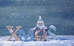 Lettres Noël et décoration de Noël Photographie stock