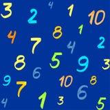 Lettres, nombres, flèches, symboles mathématiques, lignes, écrites dans le marqueur rouge Vecteur illustration de vecteur