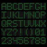 Lettres oranges et nombres de LED Images libres de droits