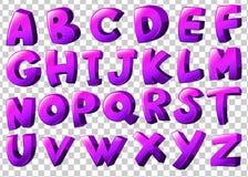 Lettres pourpres de l'alphabet Photos libres de droits