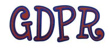 Lettres réglementaires de la protection des données générale GDPR illustration stock