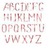 Lettres rouges de l'alphabet latin illustration de vecteur