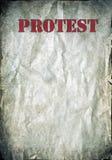 Lettres rouges de protestation sur un fond de papier grunge Photographie stock