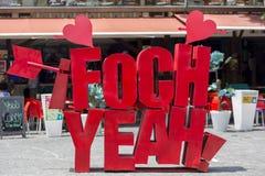 Lettres sur la plaza Foch à Quito, Equateur Photos libres de droits