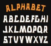 Lettres texturisées décoratives d'ABC Alphabet Photo stock