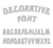 Lettres texturisées décoratives d'ABC Alphabet Photographie stock