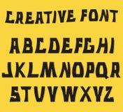Lettres texturisées décoratives d'ABC Alphabet Images libres de droits
