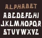 Lettres texturisées décoratives d'ABC Alphabet Photos stock