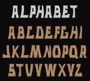 Lettres texturisées décoratives d'ABC Alphabet Image libre de droits