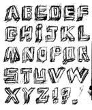 Lettres tirées par la main Illustration Libre de Droits