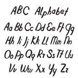 Lettres tirées par la main d'ABC Alphabet Photographie stock libre de droits