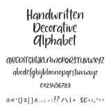 Lettres tirées par la main de majuscule et minuscule d'ABC de vecteur d'encre de brosse réglées Police comique de griffonnage pou Photographie stock
