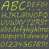 Lettres tirées par la main pour votre texte Image libre de droits