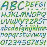 Lettres tirées par la main pour votre texte Photographie stock libre de droits