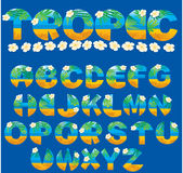 Lettres tropicales Image libre de droits